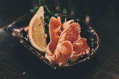 Chicken sashimi at Korombia izakaya in Sapporo, Japan