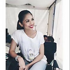 Maine Mendoza, one half of the phenomenal ALDUB tandem. Gma Network, Maine Mendoza, Alden Richards, Theme Song, Embedded Image Permalink, Film Festival, T Shirts For Women, Celebrities, Mens Tops
