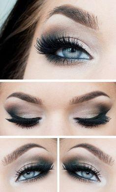Maquillaje de fiesta para ojos claros