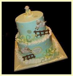 Pastels with lambs — Baby Shower
