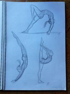 Gymnastics girl's sketches. By Yenthe Joline.