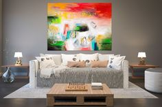 Items similar to Large Painting on Canvas,Original Painting on Canvas,modern wall canvas,abstract originals,huge canvas painting on Etsy Large Abstract Wall Art, Large Wall Art, Large Art, Large Canvas, Office Wall Art, Home Decor Wall Art, Hallway Art, Bedroom Decor, Master Bedroom