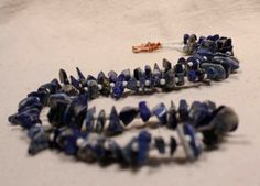 Blue Sodaliteand White Mens Unisex Casual Necklace by QuietMind, $24.00
