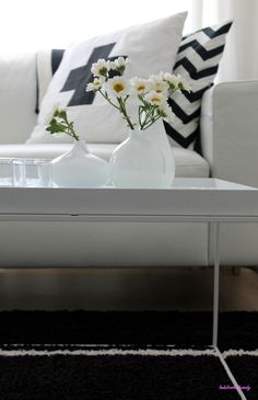 Mustavalkoisessa olohuoneessa    Black and White Living Room