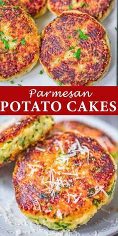 Of all the new recipes I've made recently, these Parmesan Potato Cakes are one of the biggest hits in my kitchen. This recipe is simple, requires little ingredients, and yields delicious results. Parmesan Mashed Potatoes, Mashed Potato Cakes, New Recipes, Vegan Recipes, Dinner Recipes, Cooking Recipes, Vegetarian Breakfast Recipes Easy, Fancy Recipes, Vegetarian Recipes Videos