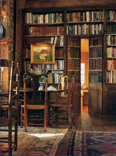 Throw the book @ me and lock me in! - Wonderful Library Wall | Content in a Cottage