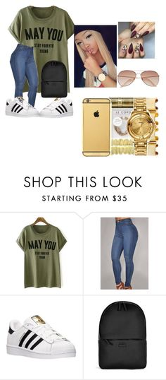 """""""😎Swag 😎"""" by god-crazy ❤ liked on Polyvore featuring adidas, Rains and H&M"""