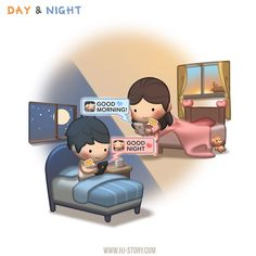 """Day & Night / """"This is dedicated to all those in a long distance relationship..."""""""