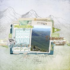 a breathtaking #travel #scrapbook page by Arte Banale at DesignerDigitals.com #shopDesignerDigitals
