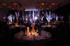 Winter wonderland - a gorgeous way to decorate a corporate Christmas ball!