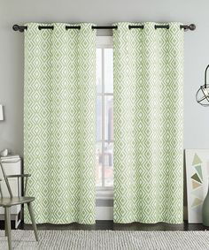 This Green Justin Geometric Curtain Panel - Set of Two is perfect! #zulilyfinds