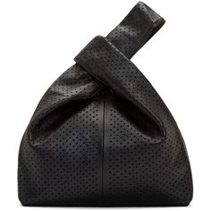 McQ Alexander Mcqueen Black Perforated Leather Tote Bag