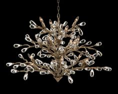 Budding Crystal Sixteen-Light Chandelier - Chandeliers - Fixed Lighting - Lighting - Our Products