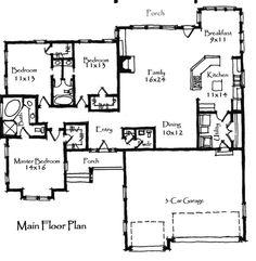 Timber bridge cottage house plan 07465 1st floor plan for Mountain bridge floor plans