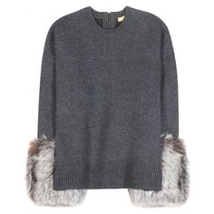 Michael Kors - Sweater with fur-trim cuffs
