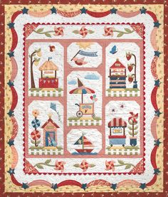 seen on blog: Fat Quarter Shop's Jolly Jabber (pattern: Summer Fun block of the month by The Quilt Company)