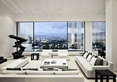 Best penthouse modern images home decor fire places furniture