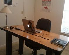 Studio DIY Computer Desk with Table Lamp and Chair