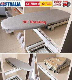 Pull Out Slide Out Folding Ironing Board Plate Car Cabinet Drawer Wall Mounted Space Saver Laundry Pull Out Ironing Board, Ironing Board Storage, Ironing Board Covers, Ironing Boards, Room Interior, Interior Design Living Room, Laundry Room Inspiration, Iron Board, Laundry Closet