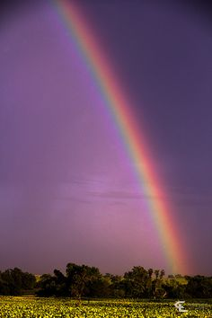 you will see a rainbow reaching to the ground...all these wonders by the Master's hand...beautiful Nebraska land