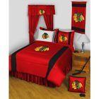 Chicago Blackhawks Comforter Full Queen NHL Hockey Sidelines Bedspread Bed