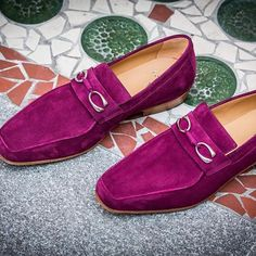 Supremely soft, extremely colorful, subtly branded, what better way to celebrate the passing of Winter than with the new Cannes loafer ?  #Corthay #Paris #Cannes #Loafer #Suede #Burgundy #New #Shoes #TheFinestShoes #LaCouleurCestCorthay #Shoeporn
