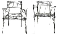 Which is a sketch and which is a real chair? Furniture that looks like scribbles from designer Jinil Park