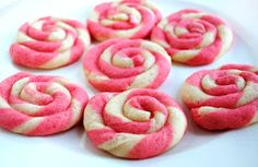 Peppermint Candy Shaped Cookies