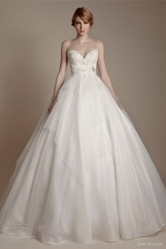 ersa atelier wedding dresses 2013 strapless sweetheart silk organza full a line gown
