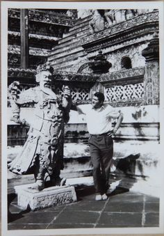Moose in a temple in Bangkok november 22 1964