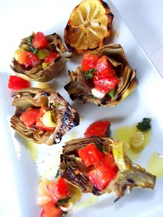 PROUD ITALIAN COOK: Grilled Baby Artichokes with Tomato Basil Salsa