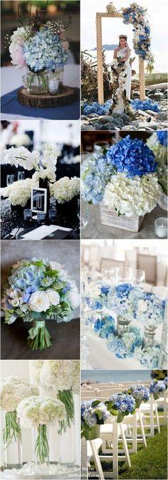 Arches & Aisles 100 Beautiful Hydrangeas Wedding Ideas / http://www.himisspuff.com/beautiful-hydrangeas-wedding-ideas/
