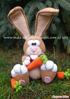 Google Crochet Pattern Central : FairyFinFin: Free Pattern Crochet Cute Big Rabbit Doll ...