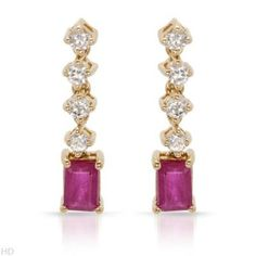 Diamond & Ruby earrings. Just one of the beautiful pieces of jewelry found at marsbazaarshop.com