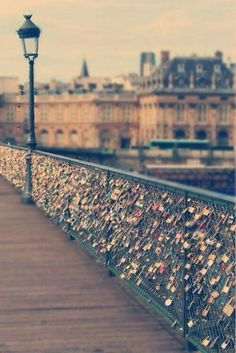 Love lock bridge :)