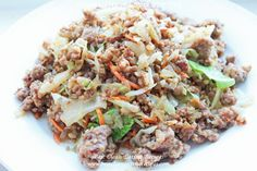 Clean Eating Dinner Recipe - Organic Ground Pork Stir Fry   Healthy Weight Loss Recipes   Easy Healthy Recipes   Clean Eating Diet