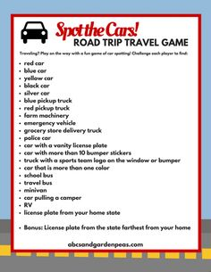 Spot the Cars! Printable Travel Game for Kids #DisneyPixarCarsToGo #ad