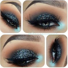 im in love with this glitter makeup