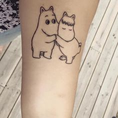 Moomin tattoo Baby Tattoos, Little Tattoos, Foot Tattoos, Tatoos, Moomin Tattoo, Snoopy Tattoo, Body Mods, Tattoo Inspiration, Tatting