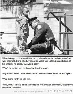 Little boy asks for help…