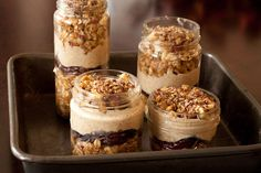 Layered Maple Oat n' Apple Dessert Jars  [Vegan, Gluten free, Dairy free, Refined sugar free, Yeast free, Corn free] by Leanne Vogel at Healthy Pursuit