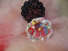 Kawaii Cute Decoden My Little Pony Swivel Compact Mirror by Fangirl505 on Etsy