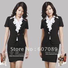 work outfits for women | cheap price 2012 work wear women's summer formal professional women ...