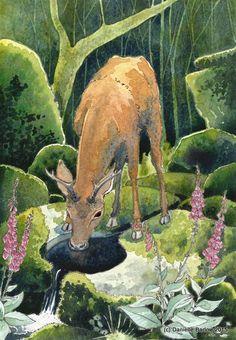 Cœur de la forêt peinture originale par Danielle Barlow