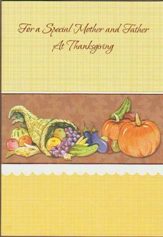 Thanksgiving Greeting Cards, Mother And Father