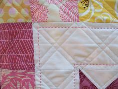 Quilt- Love the hand stitching with the machine quilting.
