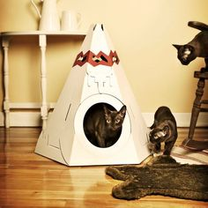 Suck UK Cat Play house - Tepee: Amazon.co.uk: Pet Supplies