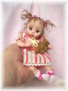 ❤OOAK HAND SCULPTED BABY LAYLA BY: JONI INLOW* DOLLY-STREET❤