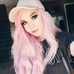 New Hair Color Pastel Pink Dyes Ideas Rosa Highlights, Hair Highlights, Cotton Candy Hair, Pastel Pink Hair, Baby Pink Hair, Girl With Pink Hair, Girl Hair, Pink Girl, Coloured Hair