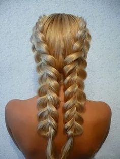 How to get Beachy Waves Hair Without Sea Salt. See how this double dutch braid can help! or i thinj it could just look kida pretty Pretty Hairstyles, Braided Hairstyles, Amazing Hairstyles, Hairstyle Ideas, French Hairstyles, Hairstyle Photos, Romantic Hairstyles, Fashion Hairstyles, Style Hairstyle